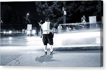 Traffic Officer Canvas Print by Dan Sproul
