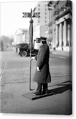Traffic Officer Canvas Print by Library Of Congress