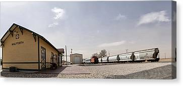 Train Depot Panorama Canvas Print by Melany Sarafis