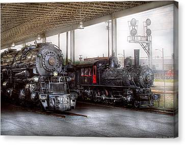 Train - Engine - 1218 - End Of The Line  Canvas Print by Mike Savad