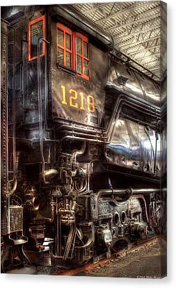 Train - Engine - 1218 - Norfolk Western - Class A - 1218 Canvas Print by Mike Savad