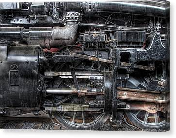 Train - Engine - 611 - Norfolk And Western - Built 1950 Canvas Print by Mike Savad