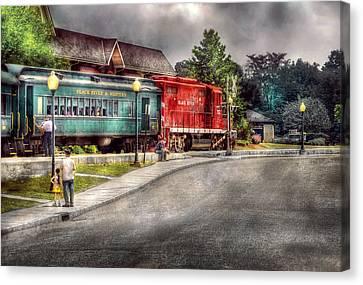 Train - Engine - Black River Western Canvas Print by Mike Savad
