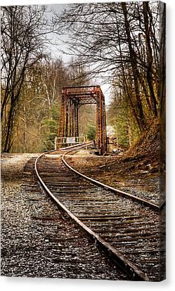 Train Memories Canvas Print by Debra and Dave Vanderlaan