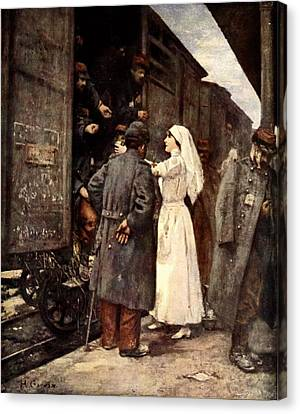 Train Of The Wounded, 1915 Canvas Print by Henri Gervex