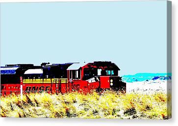 Train Power Canvas Print by Aliceann Carlton