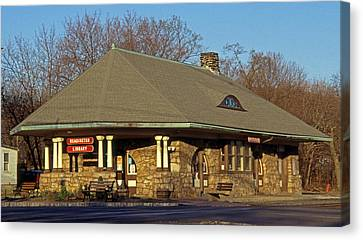 Train Stations And Libraries Canvas Print by Skip Willits