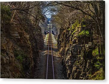 Train Tracks Photo Canvas Print by Rick McKee