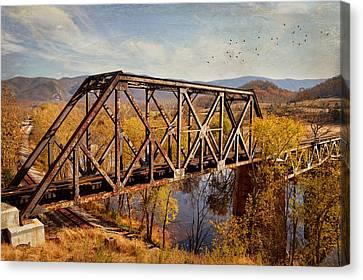 Train Trestle Canvas Print by Kathy Jennings