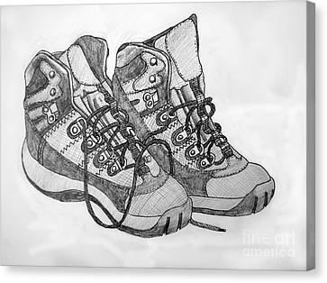 Trainer Footwear Canvas Print by Stephen Brooks