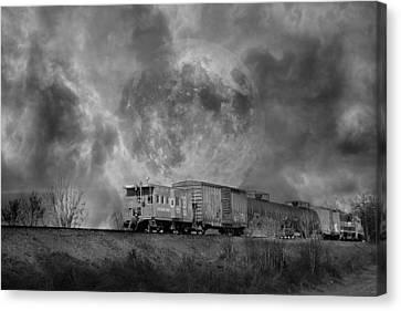 Trainscape Canvas Print by Betsy Knapp