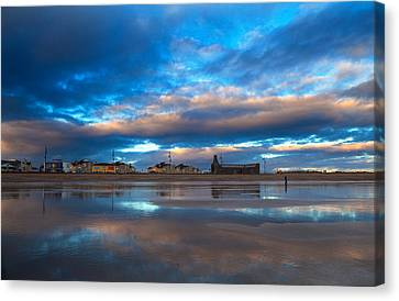 Tramore Beach At Sunset, County Canvas Print by Panoramic Images
