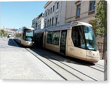 Trams In Orleans Canvas Print by Louise Murray