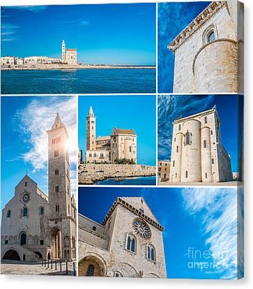 Trani Collage Canvas Print by Sabino Parente