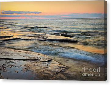 Tranquil Dusk Canvas Print by Charline Xia