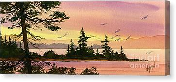 Tranquil Shore Canvas Print by James Williamson