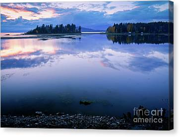Tranquil Sunset Canvas Print by Idaho Scenic Images Linda Lantzy