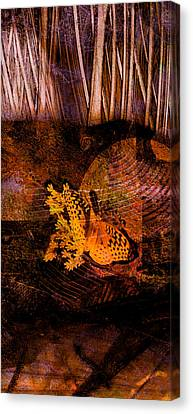Tranquility Butterfly Collage Art  Canvas Print by Ann Powell