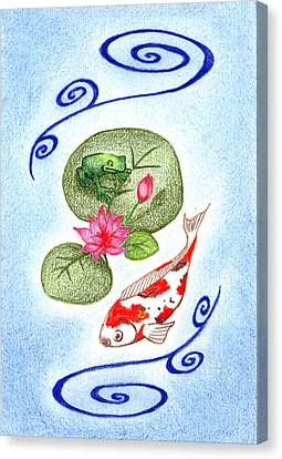Tranquility Canvas Print by Keiko Katsuta