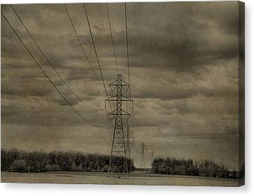 Transmission Towers Canvas Print by Dan Sproul