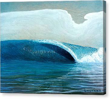 Transparent Sea Canvas Print by Nathan Ledyard