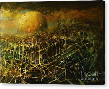 Trapped By The Moon Canvas Print by Michal Kwarciak