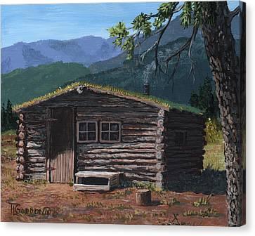 Trapper Cabin Canvas Print by Timithy L Gordon