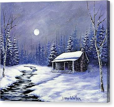 Trapper's Cabin Canvas Print by Jerry Walker