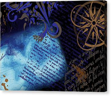 Travel Collage Canvas Print by Cindy Edwards