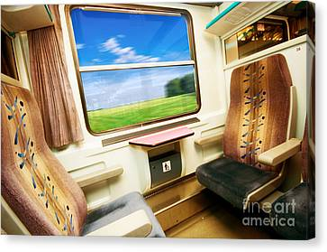 Travel In Comfortable Train. Canvas Print by Michal Bednarek
