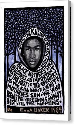 Trayvon Martin Canvas Print by Ricardo Levins Morales