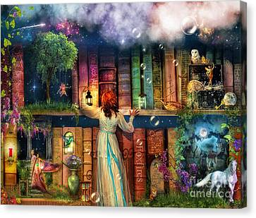 Fairytale Treasure Hunt Book Shelf Variant 2 Canvas Print by Aimee Stewart