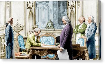 Treaty Of Amity Between U.s Canvas Print by Science Source