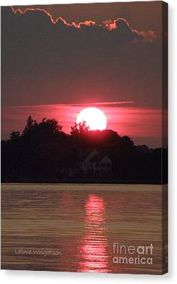 Tred Avon Sunset Canvas Print by Lainie Wrightson