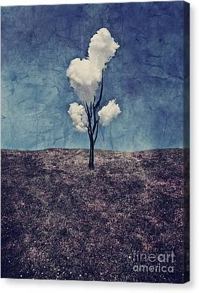 Textures Canvas Print featuring the digital art Tree Clouds 01d2 by Aimelle