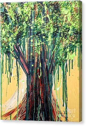 Tree Grit Canvas Print by Genevieve Esson