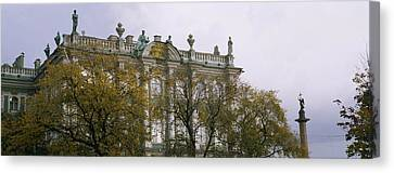 Tree In Front Of A Palace, Winter Canvas Print by Panoramic Images