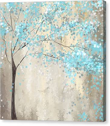 Tree Of Blues Canvas Print by Lourry Legarde