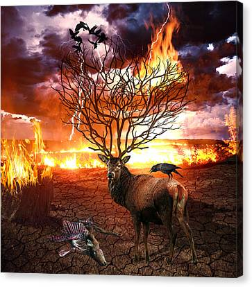 Tree Of Death Canvas Print by Marian Voicu