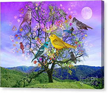 Tree Of Happiness Canvas Print by Alixandra Mullins