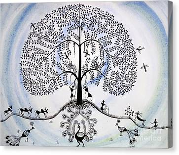 Tree Of Life Canvas Print by Anjali Vaidya