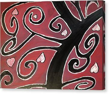 Tree Of Love Canvas Print by Paula Brown