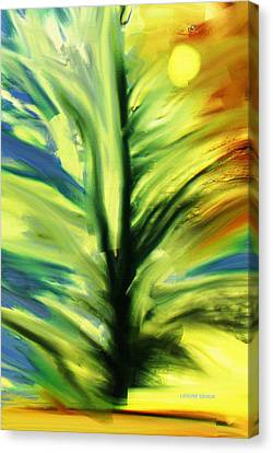 Tree Shadow Dancing Canvas Print by Lenore Senior