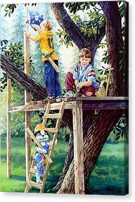 Treehouse Magic Canvas Print by Hanne Lore Koehler