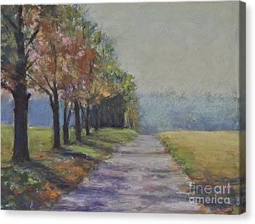 Treelined Road Canvas Print by Joyce A Guariglia