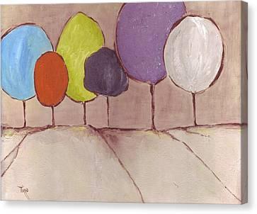 Trees-08 Canvas Print by Mirko Gallery