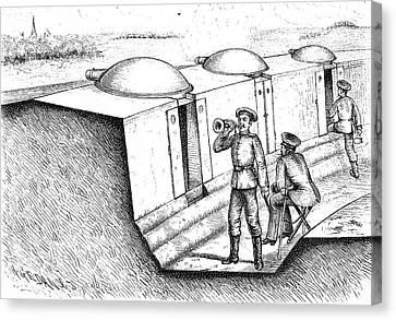 Trenches And Gruson Turrets Canvas Print by Bildagentur-online/tschanz
