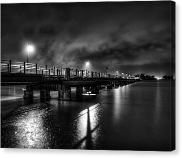 Trestle Trail At Night Canvas Print by Thomas Young