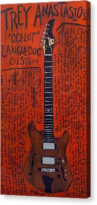 Trey Anastasio Languedoc Guitar Canvas Print by Karl Haglund