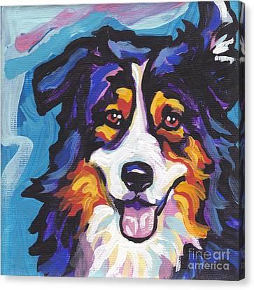 Tri Aussie Canvas Print by Lea S